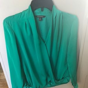 Banana Republic green blouse